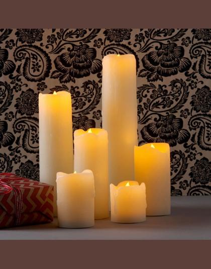 Bezpłomieniową Elektroniczny ślubne świece Dekoracyjne światła Led świeca Woskowa Romantyczny Zaproponować Małżeństwo Walenty