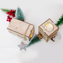 Drewna Świecznik Świecznik Boże Narodzenie Dekoracyjne Latarnie Z Wiszące Gwiazda Choinki Dekoracji Ślub Home Decor Prezent