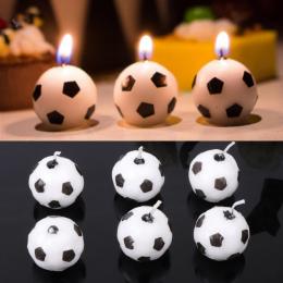 6 Sztuk/zestaw Śliczne Piłka Nożna Świece Dla Birthday Party Kid Dostarcza Wystrój