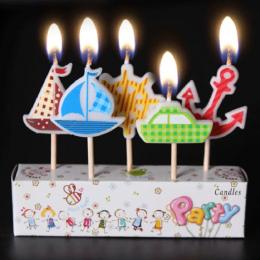 AIHOME 3 Sztuk/partia Świece Urodziny Kreskówka Rzemieślnicze Dzieci Prezenty Śliczne Event Party Supplies Ciasto Topper Cake Św
