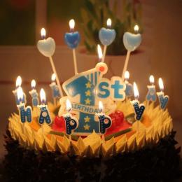 Hurtownie narodziny dziecka lat big 1 Cyfrowy świeca Niebieski Różowy wolne od dymu tytoniowego świeca ciasto dekoracji