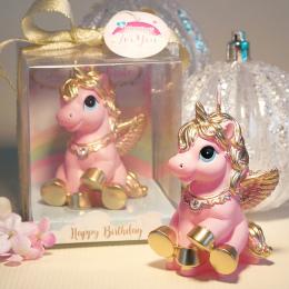 Niesamowite Mini Jednorożec Model Art Ciasto Świeca na Ślub Party Dzieci Dziecka Wystrój Różowy Kucyk Świece Świece Urodziny Par