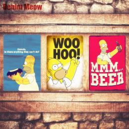 Do Alkoholu Tablica Vintage Metal Tin Signs Bar Pub Domu dekoracyjne Metalowe Płytki Kocham Simpsons BEER Naklejek Ściennych Pla