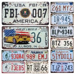 Nowy Stany Zjednoczone Metal Tablica Rejestracyjna Samochodu Vintage Home Decor Garaż plakietka Emaliowana Bar Pub Zarejestruj M