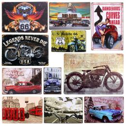 Tablica Samochodów Temat Rocznika Metalowe Plakietki emaliowane Motocykl Plakat Na Ścianie Płyta Malowanie Bar Club Pub Wystrój
