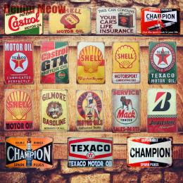 Olej silnikowy Tablica Vintage Metal Tin Signs Bar Pub Domu garaż Stacji Benzynowej Dekoracyjne Żelaza Płyty Ścienne Naklejki Sz