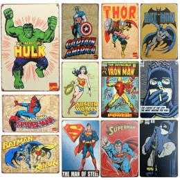 New Chic Home Bar Vintage Metal Podpisuje SuperHero Batman Domu wystrój W Stylu Vintage Plakietki emaliowane Pub Vintage Dekorac