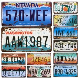 Gorący Stany Zjednoczone Samochodów License Plate Metal Home Decor Tin znaki Bar Pub Cafe Decor Metal Zaloguj Garaż Malarstwo Pl