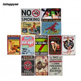Garaż Cafe Bar Pub Znak Metalowe Płytki Na Ścianie Płyty Dekoracyjne Metalowe Tablice Znaki Vintage Home Decor 20x30 cm