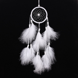 Wiatr Kuranty Handmade Indian Dream Catcher Netto Z Piór 55 cm Wall Hanging Dreamcatcher Craft Prezent Home Decoration