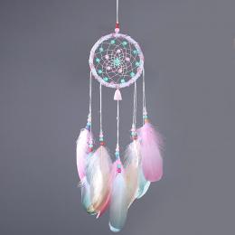 Kolorowe Dream Catcher Wisiorek Mini Domu Ozdoby Innowacyjne Prezenty Wiatr Kuranty Dreamcatcher Naturalnych Piór Wiszące na Ści