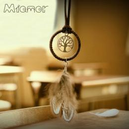 Vintage Zaczarowany Las Mini Dreamcatcher Handmade Dream Catcher Netto Z Piór Dekoracji Ornament Średnicy 3.5 cm Amor048