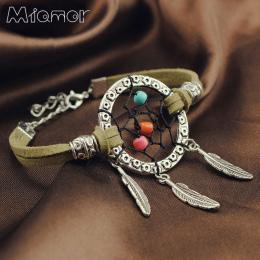 Vintage Zaczarowany Las Mini Dreamcatcher Handmade Dream Catcher Netto Z Piór Dekoracji Ornament Średnicy 3 cm Amor037