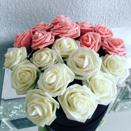 11 kolory 10 Głowice 8 cm Sztuczne Rose Kwiaty Ślubne Bukiet Panny Młodej Pianka PE DIY Home Decor Rose Kwiaty VB364 p12 0.5