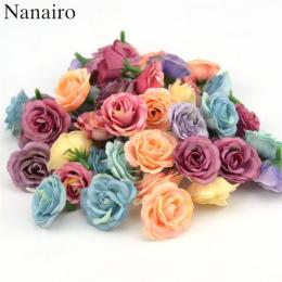 10 sztuk 3 cm Mini Wzrosła Tkaniny Sztuczny Kwiat Wedding Party Home Dekoracja Pokoju Małżeństwo Buty Czapki Akcesoria Jedwabiu