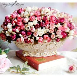 Jesień 15 szefowie/bukiet mały pączek róże bract sztuczny kwiat kwiat jedwabiu rose DIY ślub domu Christmas decor kwiaty róży pr