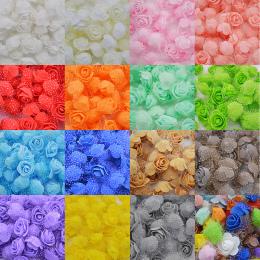 50 sztuk/partia 3 cm DIY Handmade Pianki Kwiaty 3 cm Rose Flower Szef Sztuczne PE Pianka Rose Ślub Dekoracji Scrapbooking rzemio