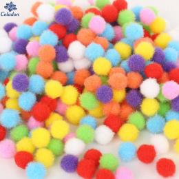100-500 Sztuk Mix Rozmiar 10mm 15mm 20mm 25mm 30mm Losowe Mieszane kolor Pomponem Miękkie Piłki Pom Pom Dla DIY Zabawki Dla Dzie