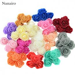 100 sztuk/partia Mini Pianka PE Róży Kwiat Głowy Sztuczne Rose Kwiaty Handmade DIY Ślub Dekoracja Domu Uroczysty & Party Supplie