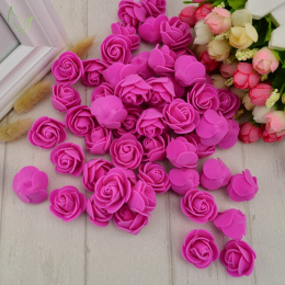 100 sztuk Pianka PE fałszywe róże kwiat głowy sztuczne kwiaty tanie dekoracje ślubne dla scrapbooking pudełko diy wieniec Wielu