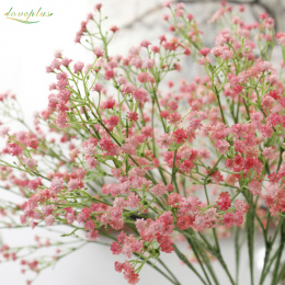 80 mini głowice 1 PC PODŁUBAĆ Sztuczny Kwiat Gypsophila dziecka oddech Fałszywy Silikon roślin na Wesele Home Dekoracje Świątecz