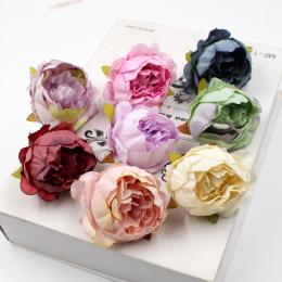 5 sztuk/partia 5 cm Wysoka Jakość Piwonia Głowa Kwiat Jedwabiu Sztuczny Kwiat Garland Ślubne Dekoracje DIY Craft Kwiat