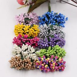 12 sztuk pearl Berry wieniec Sztuczny Kwiat Na Ślub Dekoracja Domu Słupek Pręcik DIY Scrapbooking Craft Fałszywe Kwiaty