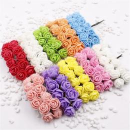 12 sztuk Mini Piana Rose Sztuczne Kwiaty Na Ślub Samochód Dekoracji Domu DIY Dekoracyjne Wieniec Kwiatów Dla Nowożeńców Pompom F