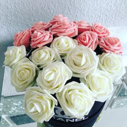 10 Sztuk/paczka 8 CM Home Dekoracyjnej Kwiaty 11 Kolory Pianka PE Sztuczne Rose Kwiaty Na Ślub Walentynki Dekoracji