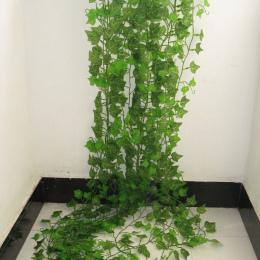 2.4 M Sztuczny Bluszcz zielony Liść Winorośli Garland Rośliny Fałszywe Liści Kwiaty Home Decor Plastikowe Sztuczny Kwiat Rattan