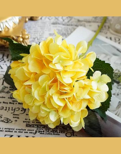 Sztuczne Kwiaty Tanie Jedwabiu Hortensja Bukiet Panny Młodej ślub Home Nowy Rok Dekoracji Akcesoria Dla Wazon Flower Arrangement