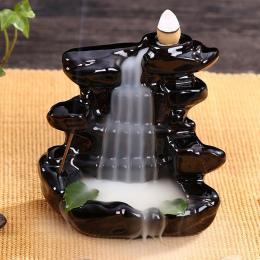 Incensory posąg Buddy Kadzidła szyszek Ceramiczne Żar posiadacz Kadzidła Palnika Zen Cofaniu palnik Kadzidło dymu + 10 Kadzidła