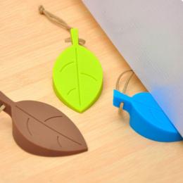 Liść Styl Silikonowe Drzwi Ochrony Korek, Wedge Finger Protector, Cute Cartoon Elastyczne Silikonowe Okna Drzwi Zatrzymuje z Smy