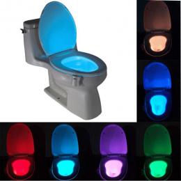 Inteligentny Łazienka Wc Nightlight DOPROWADZIŁY Ruchu Ciała Aktywowane On/Off Siedzenia Czujnik Lampy 8 wielokolorowy Wc lampa