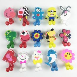 Zwierząt Słodkie Hello Kitty Kreskówki Przyssawka Szczoteczki Do Zębów Akcesoria Łazienkowe Zestaw 24 kolory Ściany Ssania Uchwy