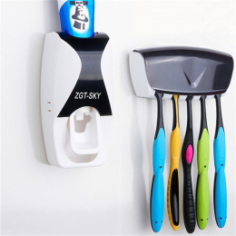 Moda Domu Automatyczny Dozownik Pasty Do Zębów Szczoteczki Do Zębów produkty Łazienkowe Stojak Naścienny Kąpieli zestaw Squeezer