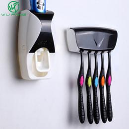 1 zestaw 5 Kolory Automatyczny Dozownik Pasty Do Zębów Zestaw 5 Szczoteczka Do Zębów Uchwyt Do Montażu Na Ścianie Łazienki Dosta