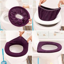ISHOWTIENDA Ciepłe Miękkie Pokrywa Toaleta Seat Pokrywa Pad Łazienka Closestool Protector Akcesoria Łazienkowe Zestaw Wc Pokryci