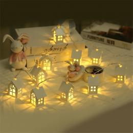 1.5 m 10 sztuk LED Christmas Tree House Style Fairy Światła Led String ślub natal Garland Nowy Rok dekoracje na boże narodzenie