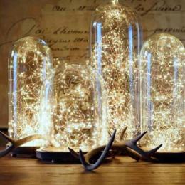 Świąteczne Dekoracje Światła 3 m 4 m 5 m Drut Miedziany LED String Światła Wedding Garland Lampy LED Choinka ozdoby Decor