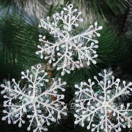 30 sztuk/partia 11 cm Bombka Białe Plastikowe Boże Narodzenia Drzewo Okna Świąteczne Dekoracje Dla Domu