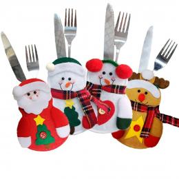 Nowego Roku Wesołych Świąt Nóż Widelec Sztućce Zestaw Spódnica Spodnie Navidad Porodzie Christmas Dekoracje dla Domu Xmas