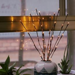LED Wierzba Oddziału Lampy Floral Światła 20 Domu Żarówki Christmas Party Ogród Wystrój Boże Narodzenie Prezent urodzinowy preze