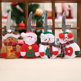 Boże narodzenie Ozdoby dla Domu Party Tabeli Sztućce Torby Snowman Święty Mikołaj Stołowe Posiadacz Kieszeń Navidad Natal Ozdoby