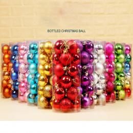 24 sztuk/partia 30mm Boże Narodzenie Drzewo Xmas Party Ball Wiszące Ornament Decor Ball Cacko ozdoby dla Domu dekoracje Na Boże