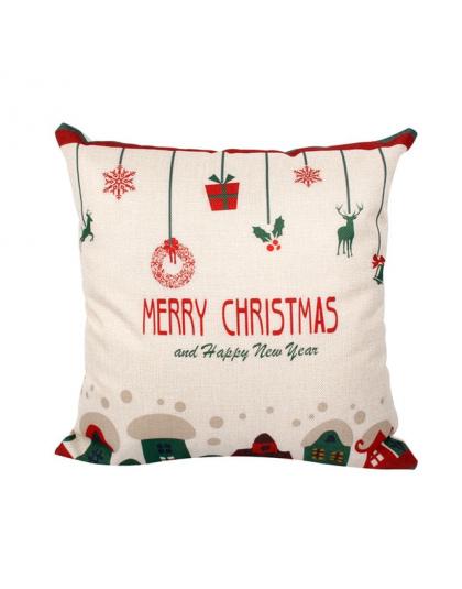 Qifu Wesołych świąt Ozdoby Do Dekoracji Domu Ozdoby świąteczne Boże Narodzenie 2018 Decor Poszewka Na Poduszkę Prezenty Na Boże