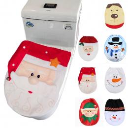 2019 Boże Narodzenie Dekoracje Domu dla Snowman Święty Mikołaj Toaleta Pokrywa Pokrywa Nowy Rok Xmas Boże Narodzenie Ozdoby Navi