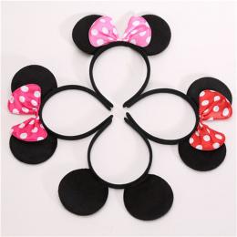 1 pc Lovely Girls Węzeł Minnie Mickey Uszy Dziecka Akcesoria Do Włosów Łuki Pałąk Hairbands Atrakcje Dla Chłopców Szczęśliwy Uro
