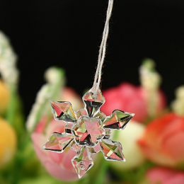 20 sztuk/paczka Christmas Snowflake Kształt Jasnego Kryształu Rhinestone Akryl Flatback Cabochon DIY Dekoracyjne Rzemiosła Scrap