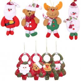 1 pc Christmas Santa Claus Snowman Ełk Lalka Zabawka Choinki Wiszące Ozdoby Dekoracji dla Domu Xmas Party Nowy Rok prezent